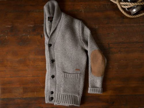 cardigan w/elbow patches