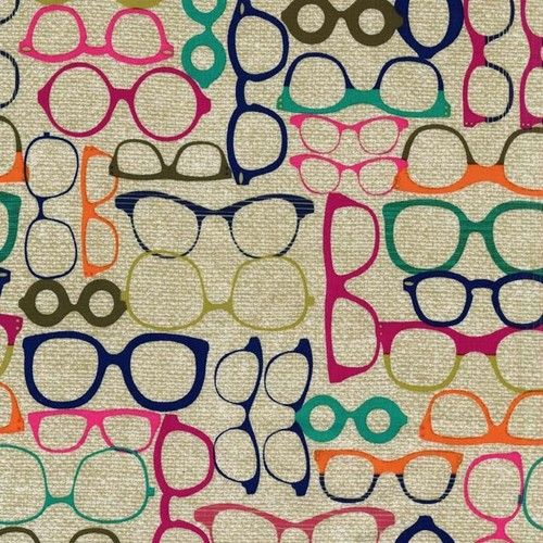 """""""20/20 Glasses"""" - Fabric Fat Quarter by Michael Miller"""