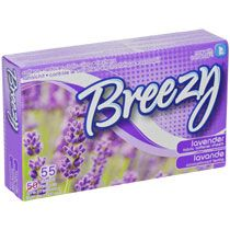Breezy Lavender-Scented Fabric Softener Dryer Sheets, 55-ct. Boxes