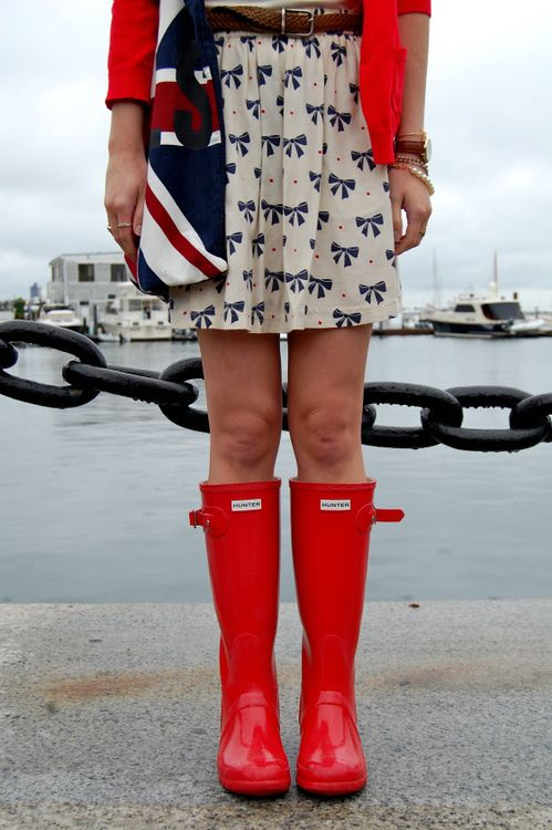 Red, white, blue, and preppy.