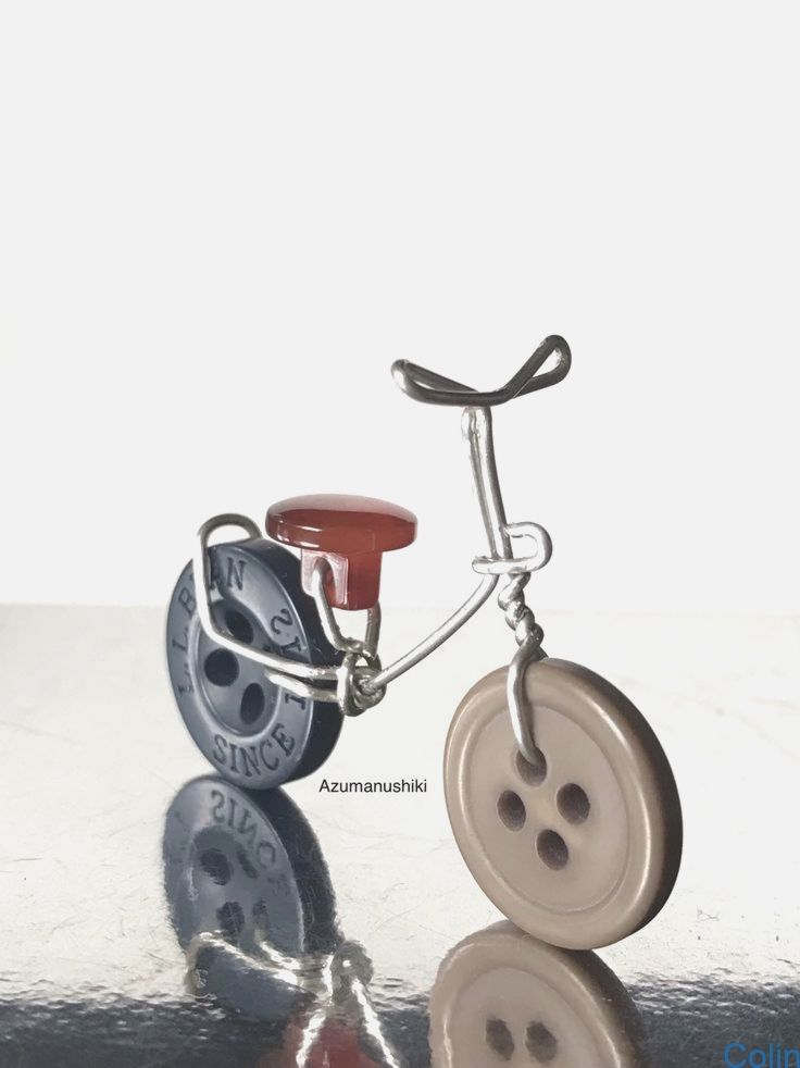 Azumanushiki Buttoncrafts Fahrrad Knopf Knopf Fahrrad