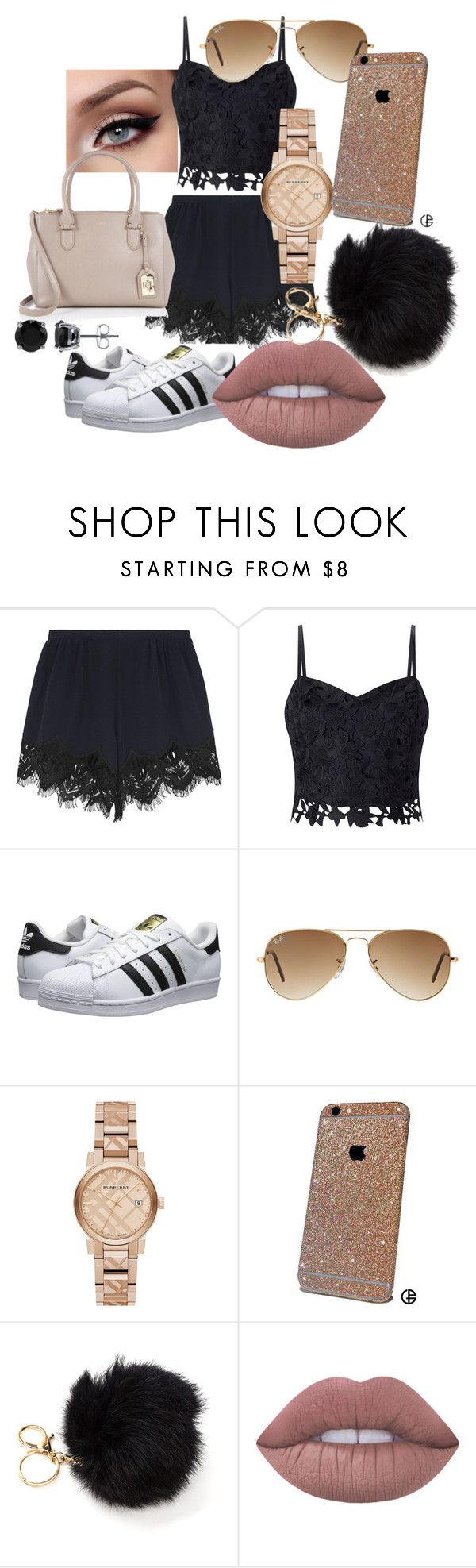 """""""mode trent handtas"""" by alex-luxem on Polyvore featuring mode, Chloé, Lipsy, adidas Originals, Ralph Lauren, Ray-Ban, Burberry, Lime Crime en BERRICLE"""