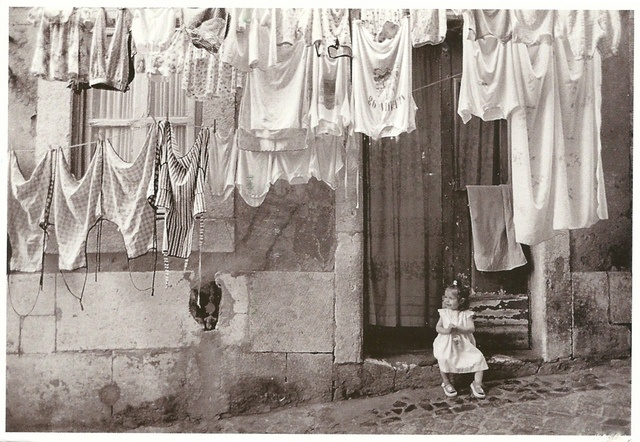 Portugal - Lisboa: Alfama, 1999 (Hanging the Laundry Out) by 9teen87's Postcards, via Flickr