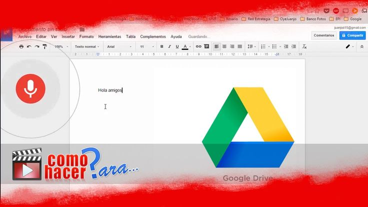 Cómo Convertir Voz a Texto con Google Drive - Dictado de Voz