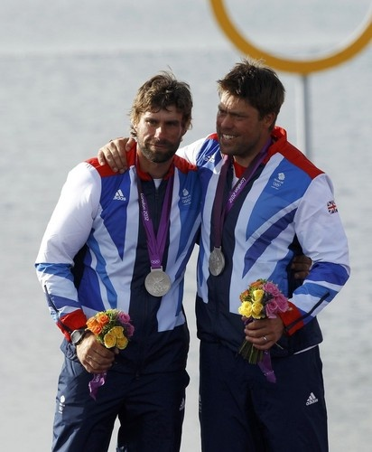 Men's Sailing Star:  Team GB's 2012 30th Olympic medal was a Silver won by: Iain Percy and Andrew Simpson on Sunday 5th August 2012 at the Weymouth & Portland National Sailing Academy Dorset.