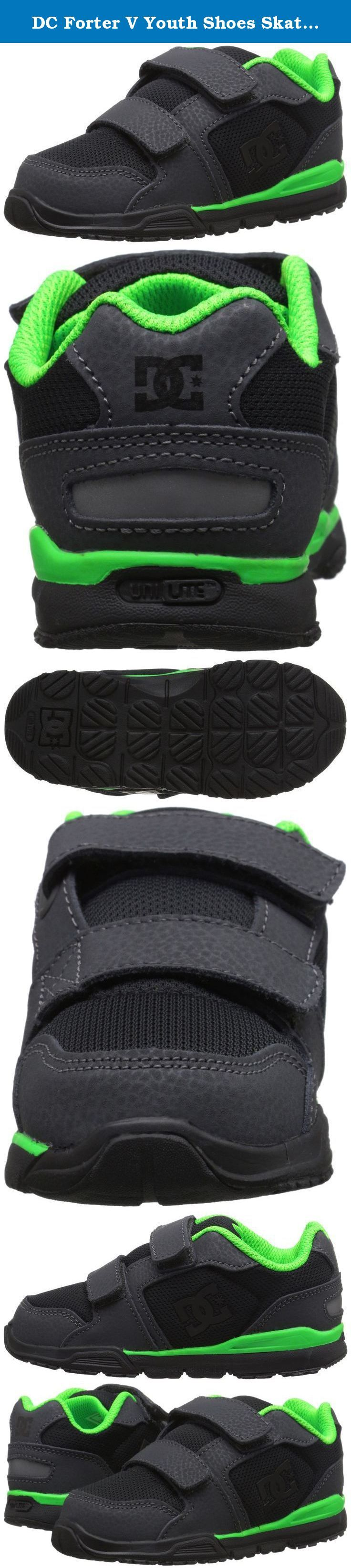 DC Forter V Youth Shoes Skate Shoe (Toddler), Dark Shadow/Black/Lime, 5 M US Toddler. DC Shoes is an American company that specializes in footwear for action sports, including skateboarding and snowboarding. Founded by Ken Block and Damon Way in 1993, DC quickly grew to a leader in performance skateboarding shoes and renowned action sports brand. Today DC stands as a global brand whose product line has expanded to include men's, kid's and kids' skateboarding and lifestyle shoes, apparel...