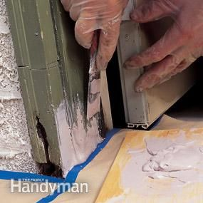 Use a polyester filler to rebuild rotted or damaged wood. You can mold and shape it to match the original wood profile. It takes paint well and won't rot. How to Repair Rotted Wood - Article | The Family Handyman