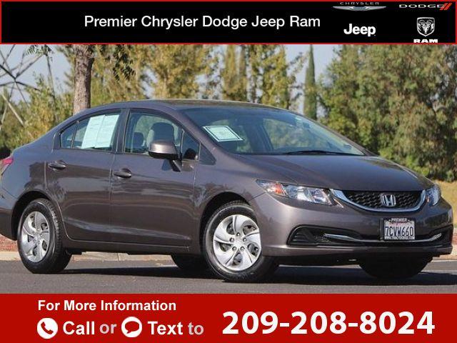 2013 *Honda*  *Civic* *sedan* *LX*  38k miles Call for Price 38426 miles 209-208-8024 Transmission: Automatic  #Honda #Civic Sdn #used #cars #PremierCDJRTracy #Tracy #CA #tapcars