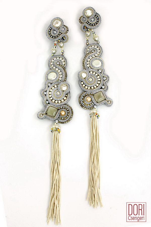 Surrender…Gothika tassel earrings are simply irresistible.... #doricsengeri #tasselearrings #bridalearrings #bridaljewelry #couturejewerly #fringeearrings #designerjewelry