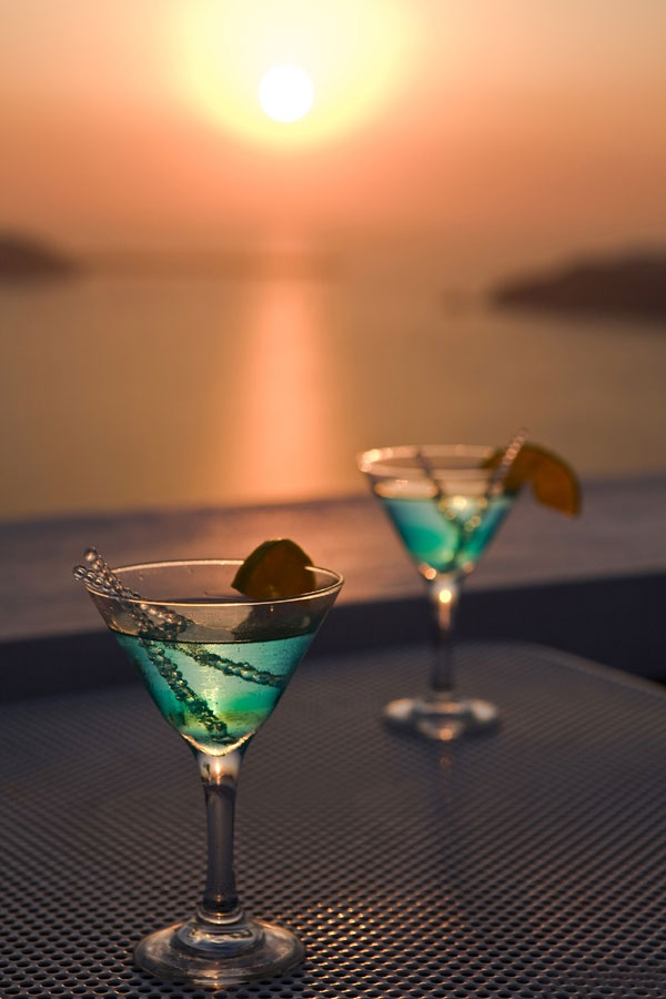 Santorini Sunset Cocktail Time