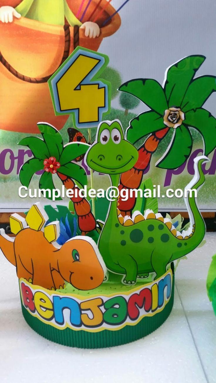 Dulceros para fiestas infantiles dinosaurios buscar con for Manualidades decoracion infantil