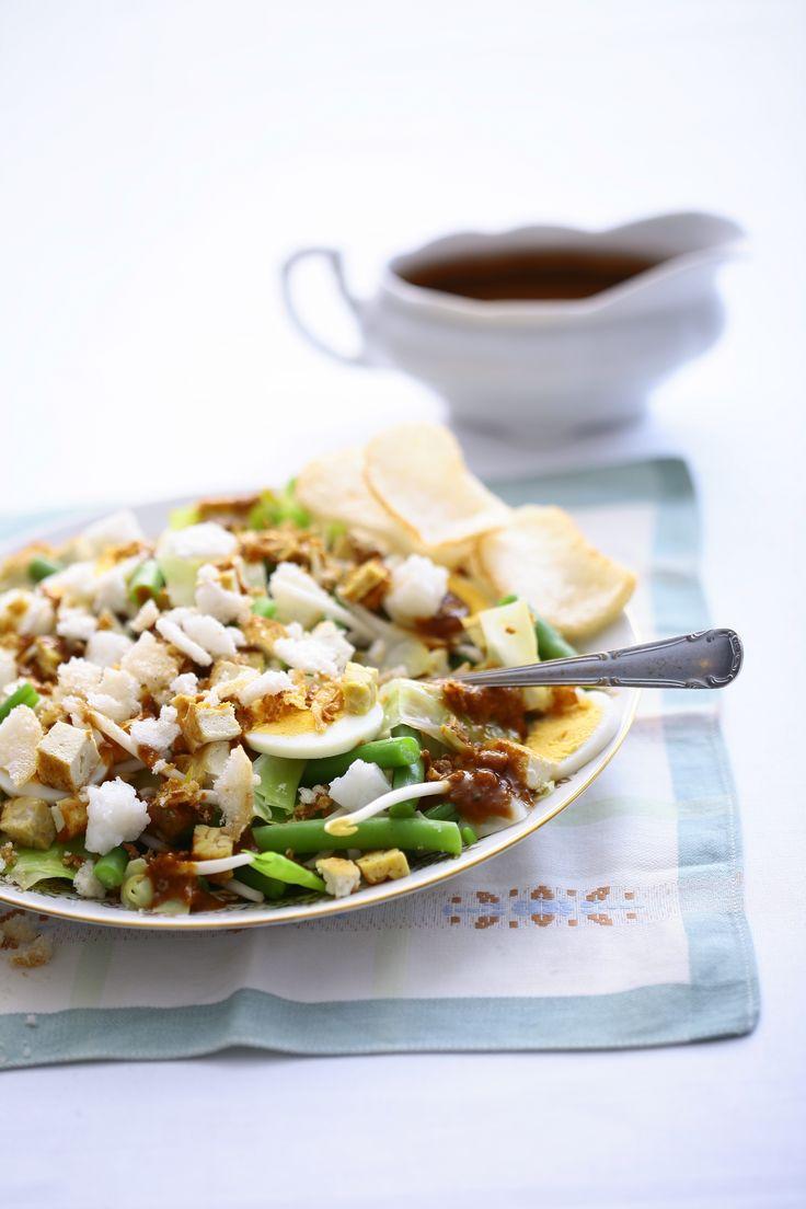... Gado Gado, a salad of vegetables and tofu in spicy peanut sauce