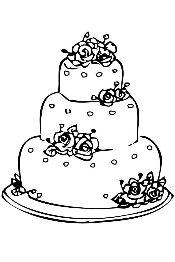Раскраски тортики и пирожные, узоры