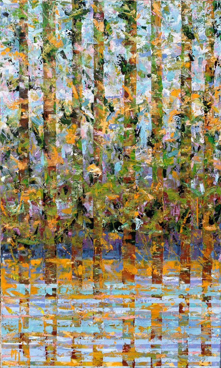Manolis Pentes 'Rhythm V' 2016 acrylic 115X195cm