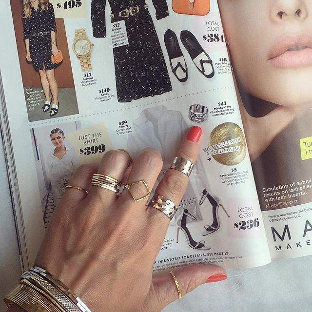 Thank you @stylewatchmag for featuring our Cairo ring in your August Issue, we…