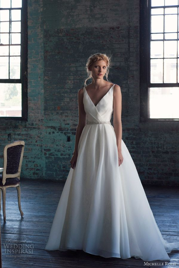 michelle roth wedding dresses 2014 bridal rhoda sleeveless ball gown