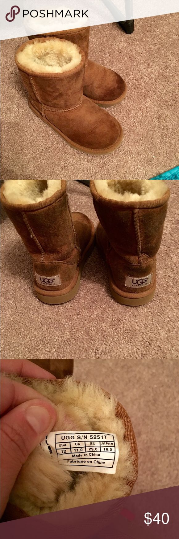 CHILDRENS UGGS CHILDRENS ugg boots size 12.. Shows some wear but not bad! Just need cleaning !! UGG Shoes
