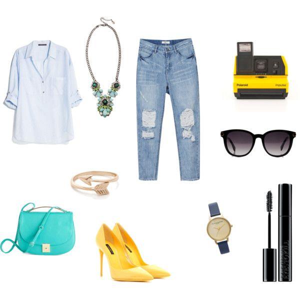 """Tranquillità"" by workingincloset on Polyvore #yellow #shoes #mascara #sunglasses #photo #outfit #style #fashionblogger #fashionblog #howtowear #workingincloset"
