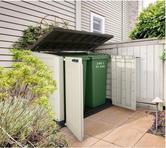 Garden Storage Box Shed Bike Bin Wheelie Tools Outdoor Barbecues Lawn Store