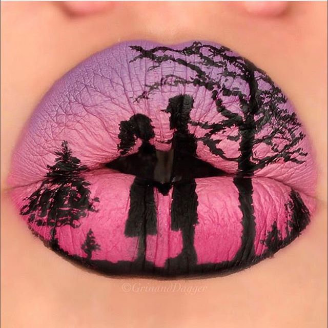 WEBSTA @ makeupaddictioncosmetics - Love this lip art by @grinanddagger!MakeupAddictionCosmetics