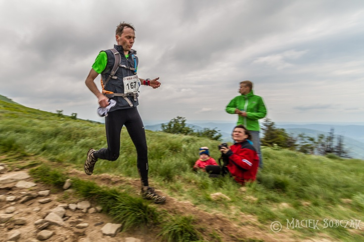 Ultramarathon - 80 and 100km runs, 'Bieg Rzeźnika' - The Butcher Race 2012 in Bieszczady mountains. This point is about 60 km from start.