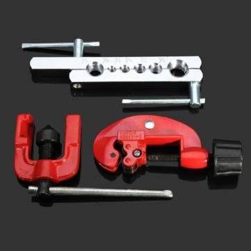 3pcs Flaring Tool Kit Tube Cutter Swaging Tool Refrigeration Tools