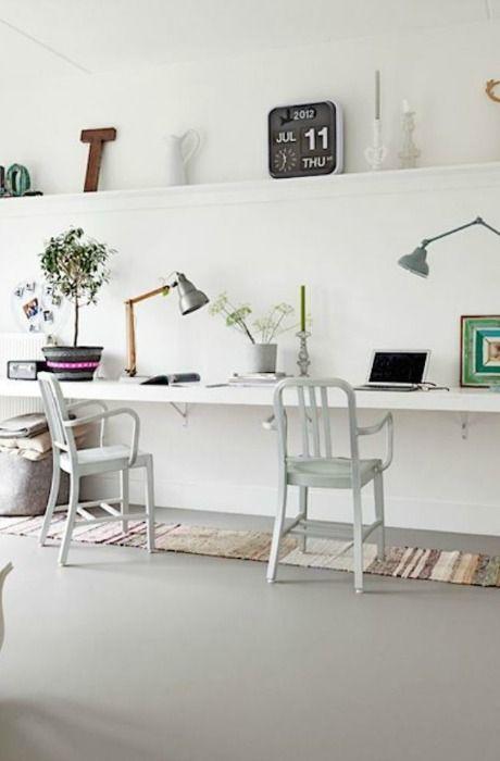 escritorio para dos encontrar la forma de establecer un espacio de trabajo en casa suele