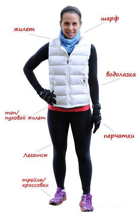 одежда для бега зимой, комплект