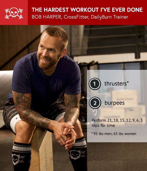 Bob Harper on his Hardest Wod ever; & mentally coping with Competitive Crossfit- The Daily Burn