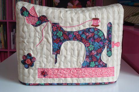 New sewing machine cover - Liberty fabrics for the appliqué