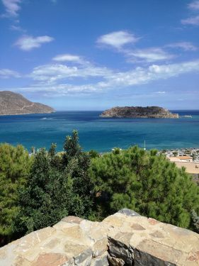 View of Spinalonga from the Blue Palace Hotel, Crete