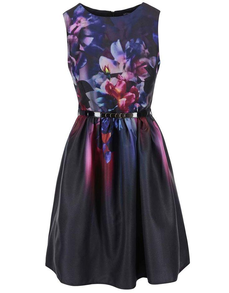 Little Mistress - Černé šaty s květinovým potiskem - 1