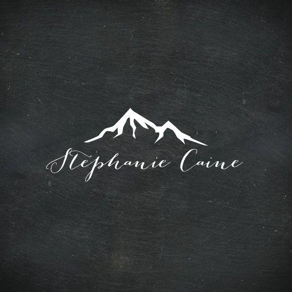 Premade Logo Design, Handwritten Logo, Mountain Logo, Photography Logo…