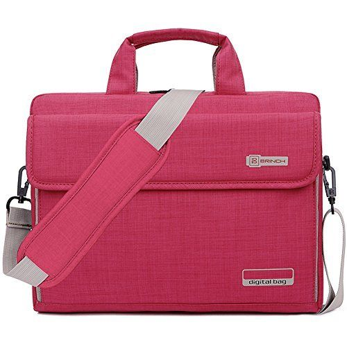 New Trending Briefcases amp; Laptop Bags: BRINCH® New Style Oxford Fabric Unisex Universal Luxury Portable Laptop Sleeve Case Carrying Messenger Bag Shoulder Briefcase Handbag For 15 - 15.6 Inch Laptop / Notebook / MacBook / Ultrabook / Chromebook Computers (Apple / Acer / Asus / Dell / Fujitsu / Lenovo / HP / Samsung / Sony / Toshiba etc.) with Shoulder Strap Handle and Pockets (Pink). BRINCH® New Style Oxford Fabric Unisex Universal Luxury Portable Laptop Sleeve C