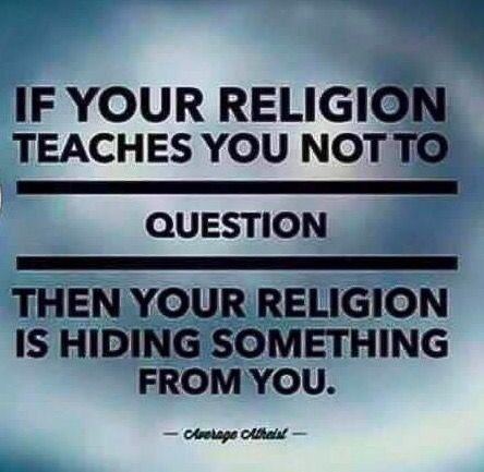Image result for questioning not allowed in religions images