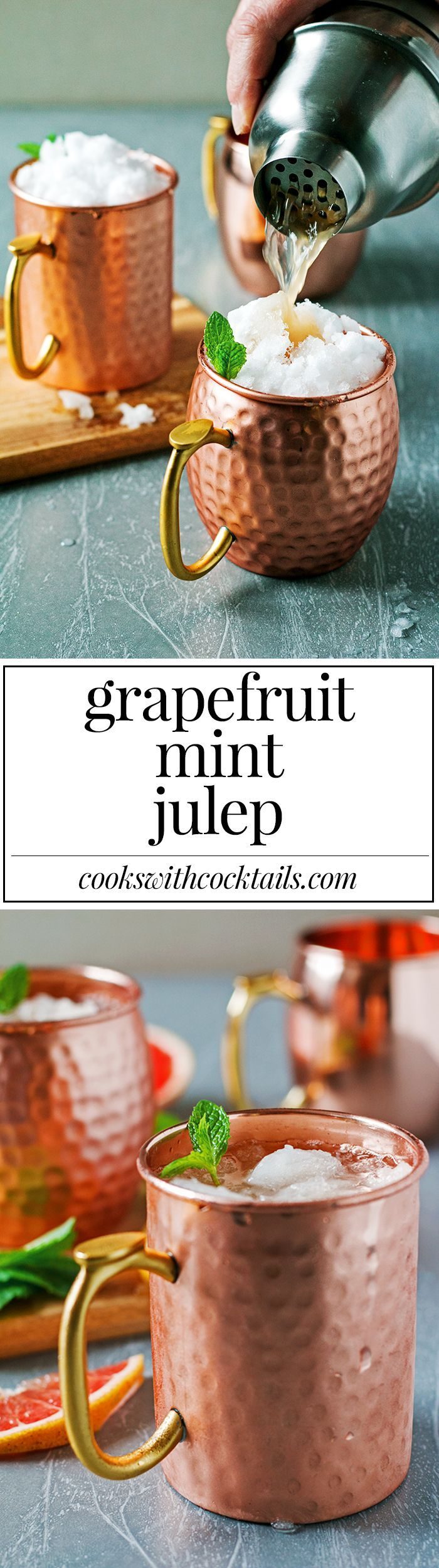 Grapefruit Mint Julep | Cooks With Cocktails