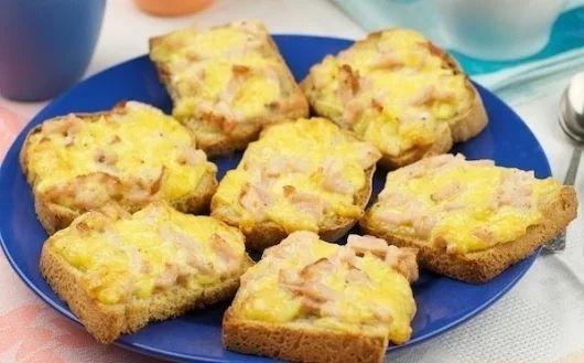 Горячие бутерброды с ветчиной и сыром | Про рецептики - лучшие кулинарные рецепты для Вас!