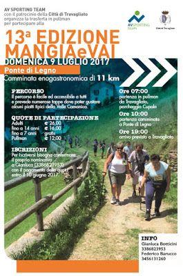 Mangia e Vai: camminata enogastronomica 9 Luglio Ponte di Legno (BS)