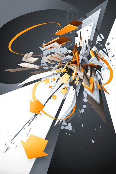Daim 3d graffiti print