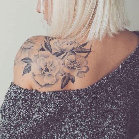 Tattoo Ideen Frauen – 50+ Rücken Schulter Tattoo Ideen für die Frau #die #Frau #für #Ide… #womentattooideas #womentattoos