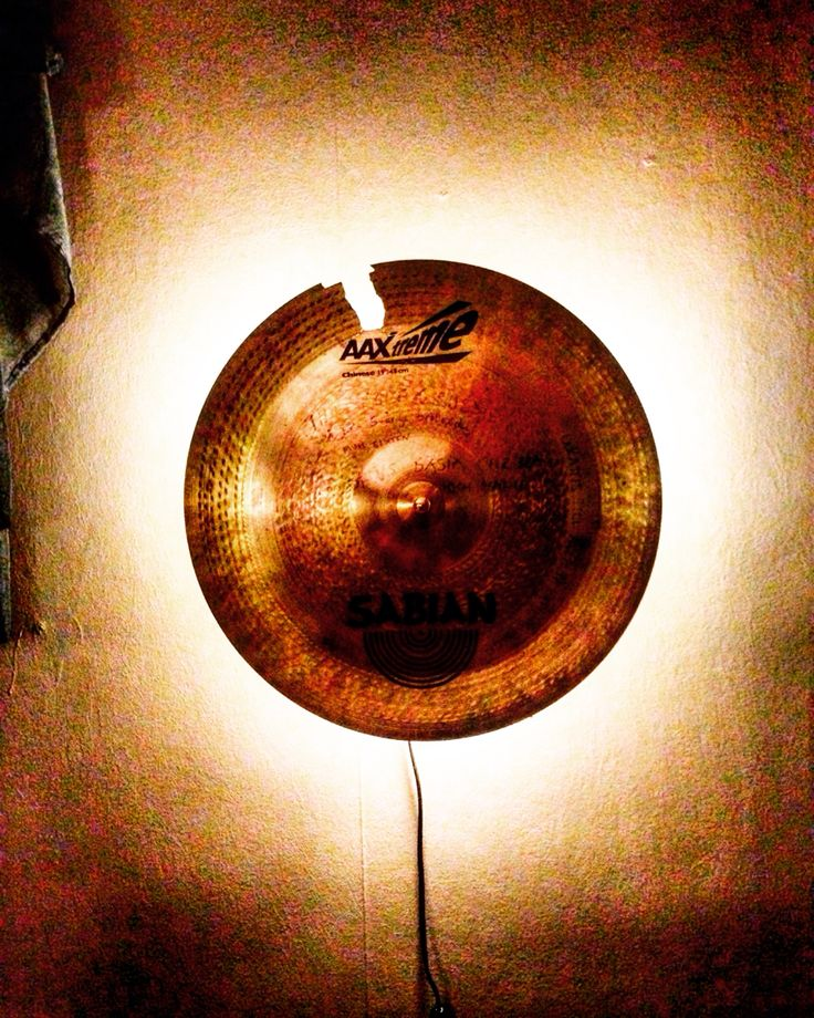 Cymbal light. I recycle my musician friend's beat up drums