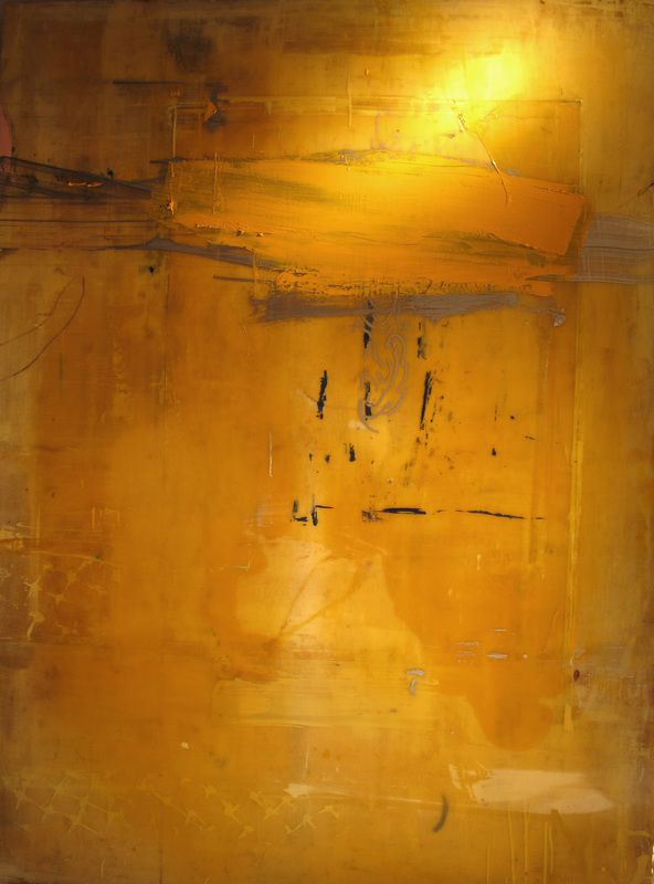 John La Huis abstracts 2-dimensional painting, mixed media on wood with expoxy finish