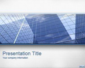 Plantilla PowerPoint de Oficina Corporativa es un diseño de PowerPoint para presentaciones ejecutivas con una interesante imagen de oficinas y edificio de oficinas en el tema de PowerPoint