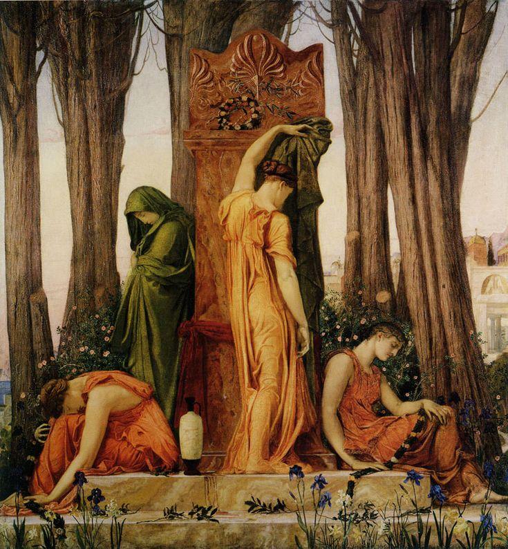 Electra en la tumba de Agamenón - William Blake. Electra es una de las siete Pléyades de la mitología griega, hija de Atlas y de Pléyone. Fue madre con Zeus de Dárdano, de Ematión, de Yasión y, según algunos autores, de Harmonía. En el cúmulo abierto de las Pléyades sólo seis de las estrellas brillan intensamente. En algunos mitos dicen que la estrella que no brilla es Electra, en señal de luto por la muerte de Dárdano.