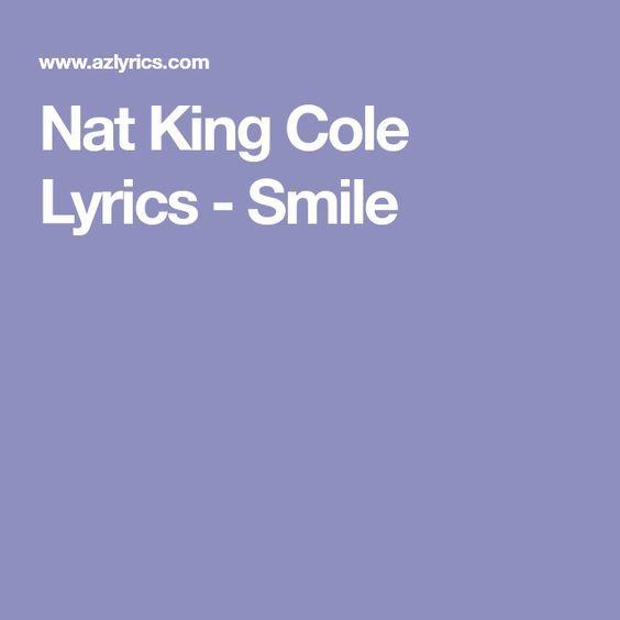 Nat King Cole Lyrics - Smile