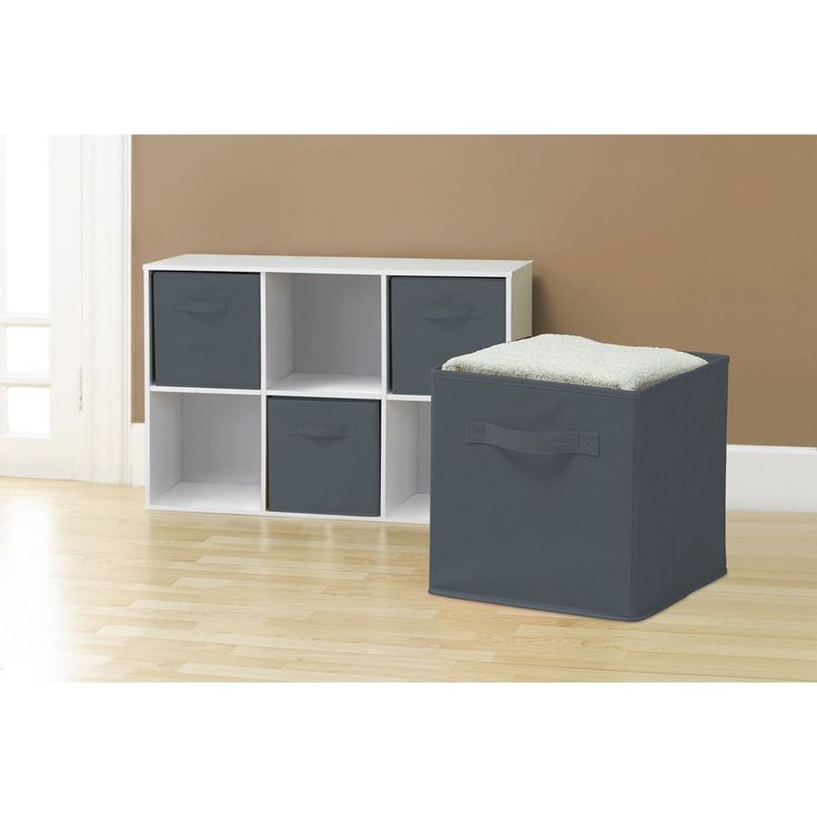Perfect for organizing and cutting down on clutter, these Collapsible Storage Cubes add fun and functionality to your cube organizer. These fabric drawers easily side in and pull out of cube shelves thanks to their sewn in handles.