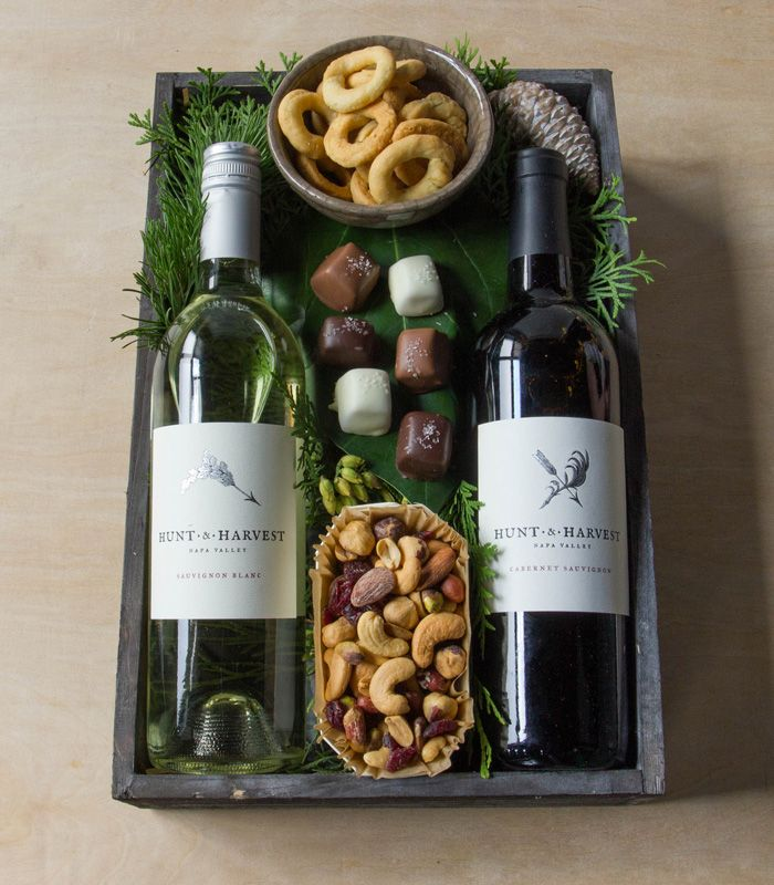 Wine Duet: Winston Flowers' Gourmet Gift Collection.