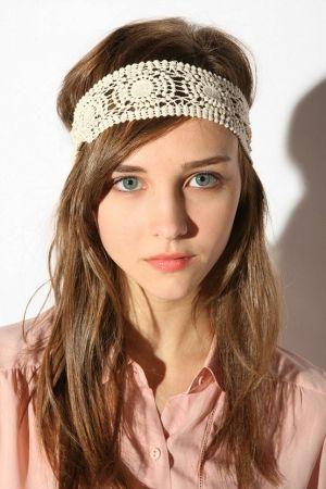 Faixa de cabelo de crochê: