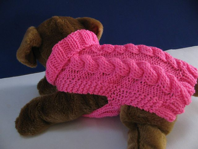 Ravelry: Celtic Doggie Smart Cables Sweater pattern by Debby Decker