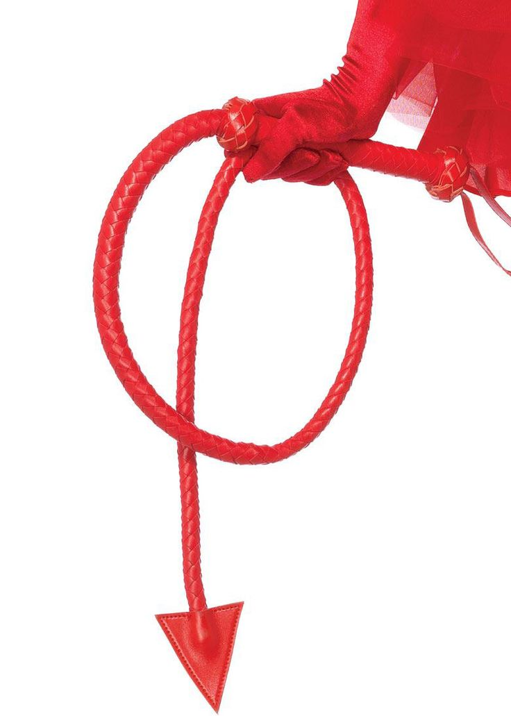 """Leg Avenue Braided Devil Tail Whip LA-2615 £20.99  This faux leather 54"""" braided whip features a Devil tail tip. Perfect for some naughtiness at Halloween! #whip #halloween"""
